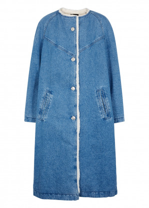 Isabel Marant Kaleia blue denim coat