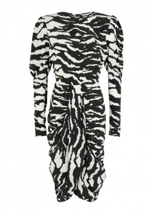 Isabel Marant Frea black and white printed dress