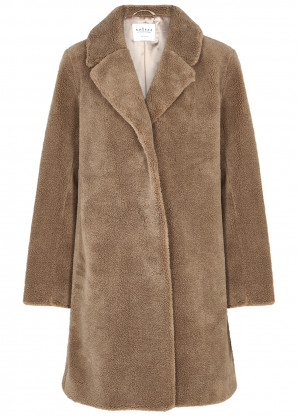Velvet by Graham & Spencer Triselle brown faux shearling coat