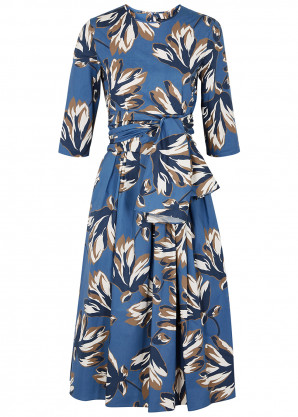 'S Max Mara Petalo floral-print cotton midi dress