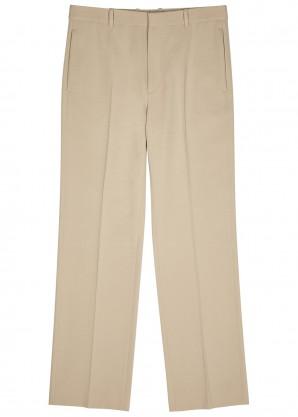 Balenciaga Stone wide-leg wool trousers