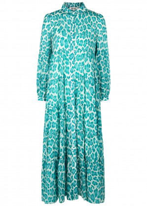 Diane von Furstenberg Kiara leopard-print cotton-blend shirt dress