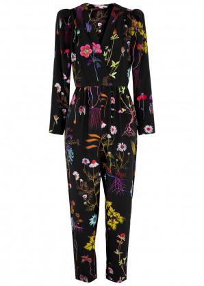 Stella McCartney Michele floral-print silk jumpsuit