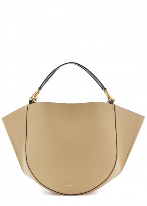 Wandler Mia almond leather tote