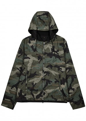 Valentino Reversible camouflage-print shell bomber jacket