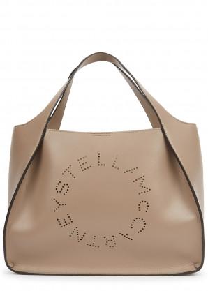 Stella McCartney Stella Logo medium taupe tote