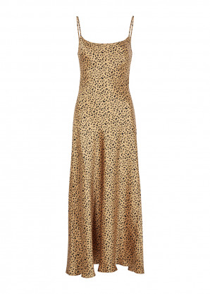 RIXO Holly leopard-print silk midi dress