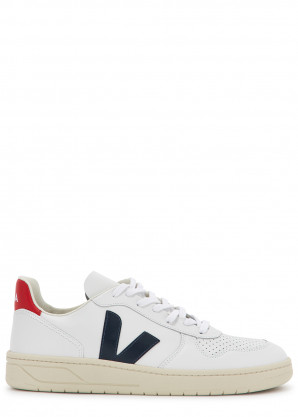 Veja V-10 white leather sneakers