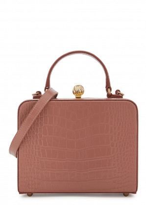Mehry Mu Luna mini rose leather top handle bag