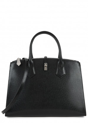 Vivienne Westwood Sofia black leather top handle bag