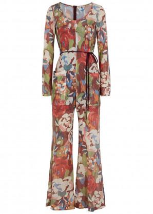 M Missoni Floral-print fine-knit jumpsuit