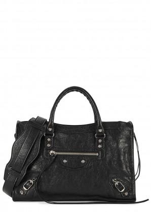 Balenciaga Classic City small black leather shoulder bag