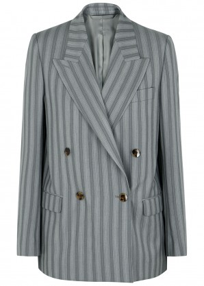 Acne Studios Janny grey striped wool blazer
