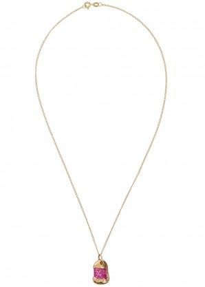 Bleue Burnham Rose Sapphire 9kt gold necklace