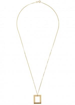 Bleue Burnham Window 9kt yellow gold necklace