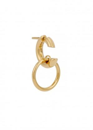 Maria Black Twin gold-plated hoop earring
