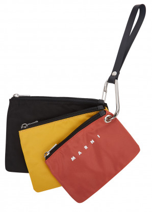 Marni Black shell pouch