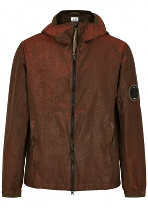 C.P. Company P.Ri.S.M. rust hooded shell jacket