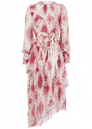 Zimmermann Wavelength printed silk midi dress