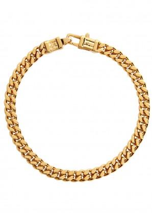 Tom Wood Curb L 9kt gold-plated chain bracelet
