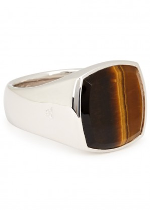 Tom Wood Cushion Tiger Eye sterling silver ring