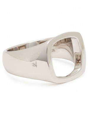 Tom Wood Cushion Open sterling silver ring