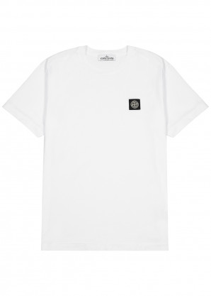 Stone Island White cotton T-shirt