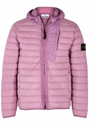 Stone Island Pink quilted nylon jacket