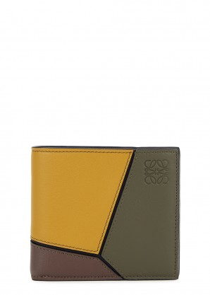 Loewe Puzzle panelled leather wallet