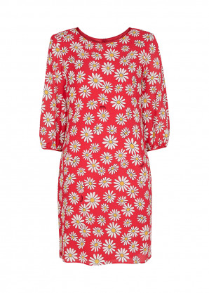 Boutique Moschino Red daisy-print mini dress