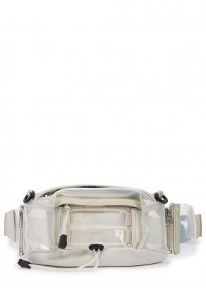 nana-nana Frosted white PVC belt bag
