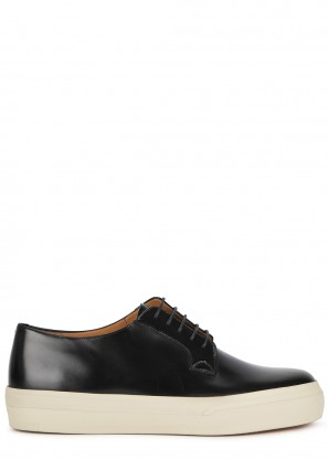 Dries Van Noten Black glossed leather shoes