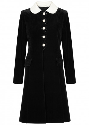 Marc Jacobs The Sunday Best black velveteen coat