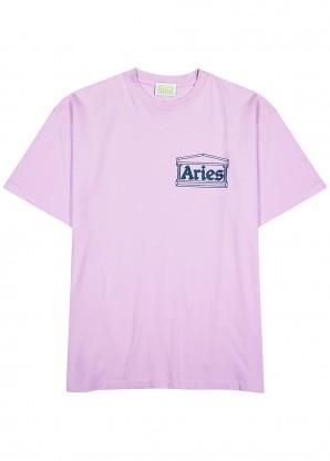 Aries Lilac cotton T-shirt