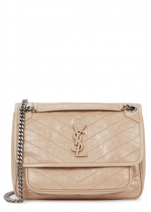 Saint Laurent Niki medium sand leather shoulder bag