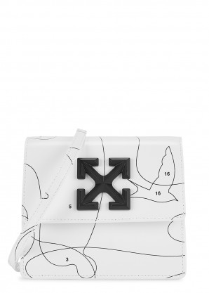 Off-White Puzzle Jitney 0.7 leather cross-body bag