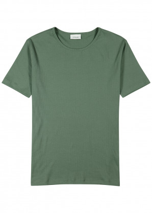 Lemaire Green ribbed jersey T-shirt