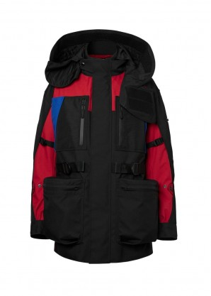 Burberry Colour block nylon jacket with detachable puffer