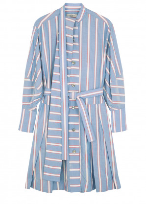palmer//harding Sara striped Lyocell-blend shirt dress