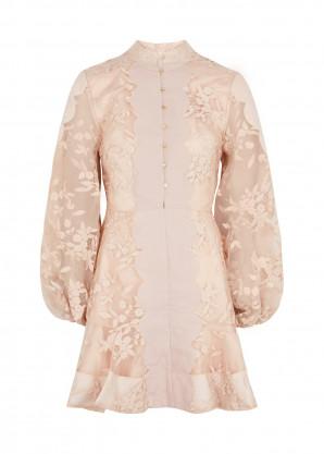 KEEPSAKE Vision floral-embroidered organza mini dress