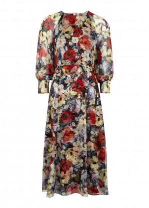 Erdem Yusra floral-print silk-chiffon midi dress