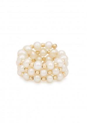 Anissa Kermiche Impromptu freshwater pearl ring