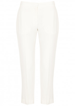Alexander McQueen White cropped slim-leg trousers