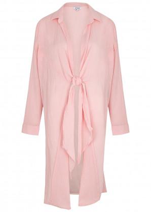 Gimaguas Ma'am pink cotton guaze shirt dress
