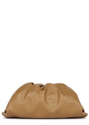 Bottega Veneta The Pouch camel leather clutch
