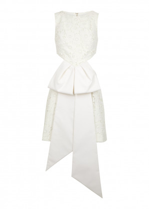 Azzi & Osta White cut-out guipure lace playsuit