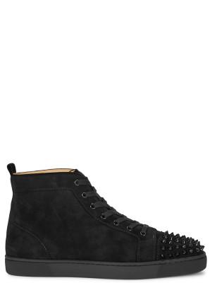 Christian Louboutin Lou Spikes black suede hi-top sneakers
