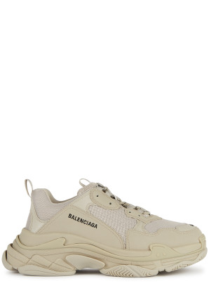 Balenciaga Triple S sand mesh and leather sneakers