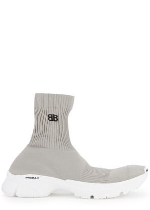 Balenciaga Speed 3.0 grey stretch-knit sneakers