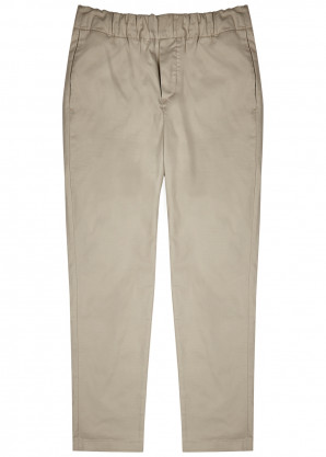 7 For All Mankind Stone slim-leg cotton-blend chinos